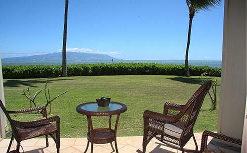 View from lanai - Wavecrest A116 - Ualapue - rentals