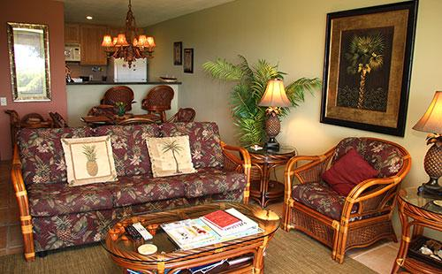Living area from lanai - Ke Nani Kai 120 - Maunaloa - rentals