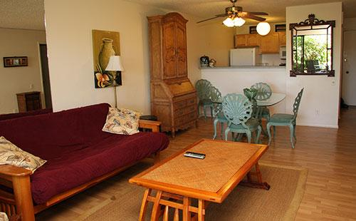 Living area from lanai - Ke Nani Kai 155 - Maunaloa - rentals