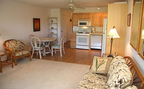 Living area from the lanai - Wavecrest B105 - Kaunakakai - rentals