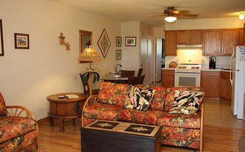 Living area from the lanai - Wavecrest B305 - Ualapue - rentals