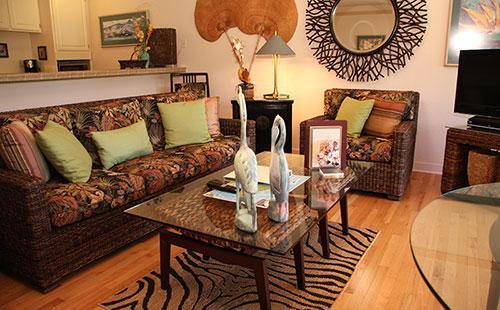 Living area from lanai - Paniolo Hale Q2 - Maunaloa - rentals