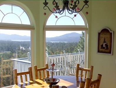 panoramic view from dinning area - Million Dollar View (ask about mid-week discounts - Big Bear Lake - rentals