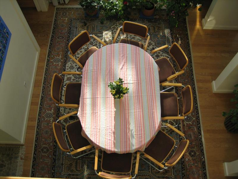 Dining table in atrium - Over Looking Wellfleet Harbor Small Private Beach/ - Wellfleet - rentals