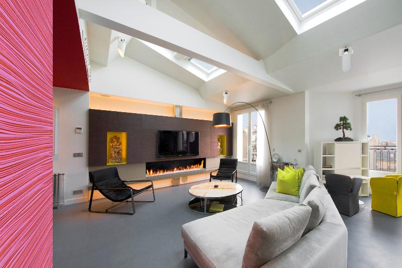 Living Room - Elysee Penthouse Loft and Terrace - Paris - rentals