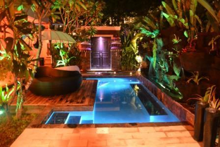 Pool at Night - Zen  Beach Villa - Denpasar - rentals