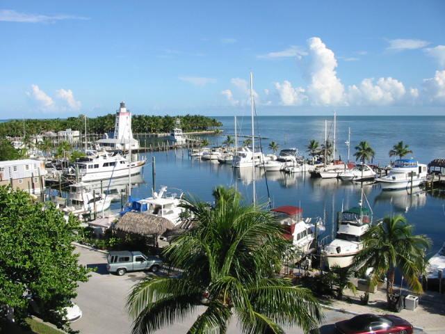 View of Marina from Condo - Spacious Top Floor Condo w/ Water View!! - Marathon - rentals