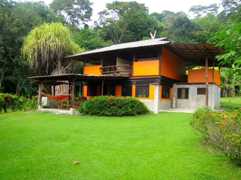 The home sits amongst acres of tropical gardens. - Secluded Beach Home on 20 Acre Property - Cabo Matapalo - rentals