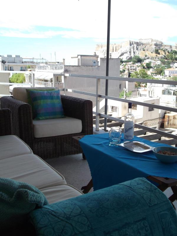 The terrace with its beautiful Acropolis view - BREATHTAKING VIEW OF THE ACROPOLIS - Tavros - rentals