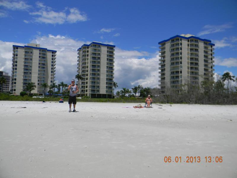 The beach in front of Estero Beach and Tennis - Eighth Floor Beach Front Condo and Tennis Club from .00 a week - Fort Myers Beach - rentals