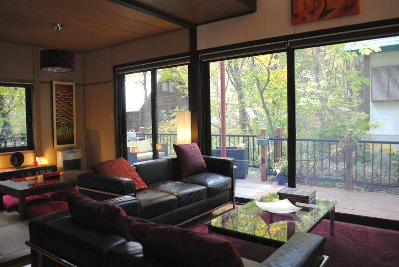 Living Room & Japanese Dining - Hakuba Cottage Momiji - A stylish cosy cottage - Hakuba-mura - rentals