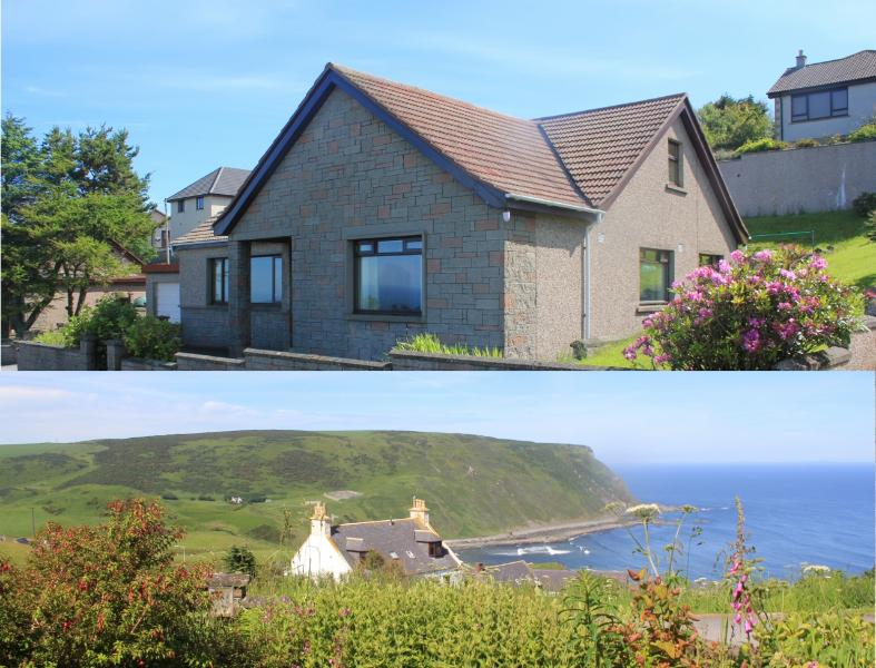 Crow's Nest and view from the front garden. - Banffshire holiday cottage-sea views- sleeps 8-10. - Banff - rentals