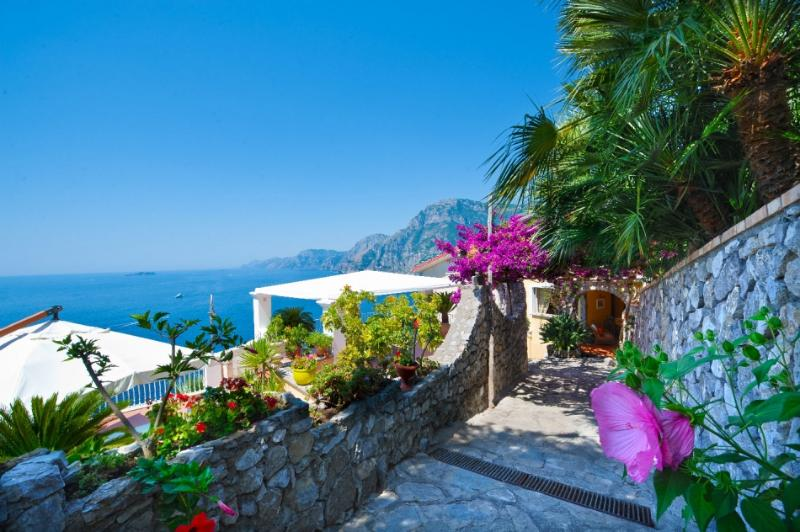 Terrazza magnificent villa in Positano parking - Image 1 - Positano - rentals
