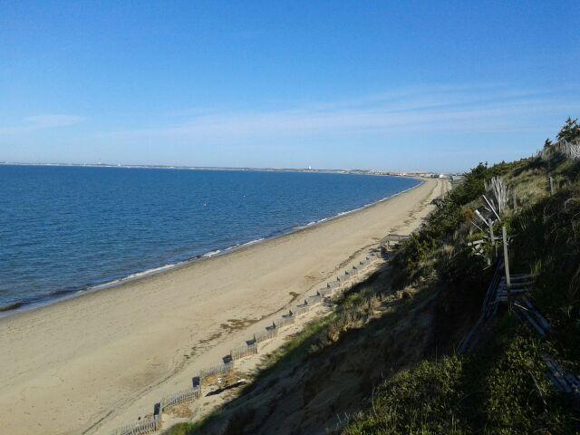 Beach: looking toward Provincetown - The Pagodas -Unit 7 - Studio Steps from Bay Beach! - North Truro - rentals