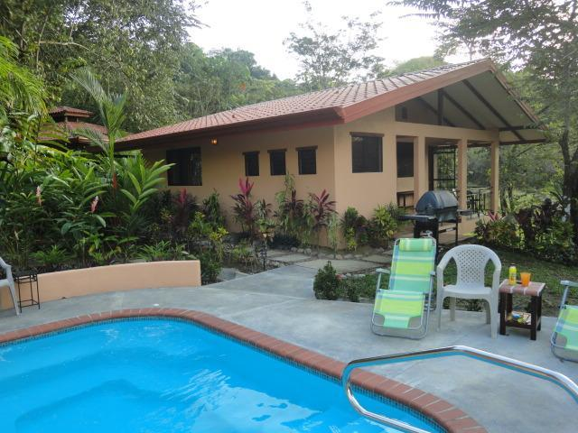 Pool behind the house - Prado Pacifico:  Secluded Casita in Busy Jacó - Jaco - rentals
