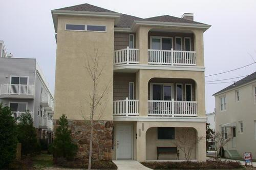 Street View of Front - Ocean City 4BR Beach Block, Ocean Views, 2 decks - Ocean City - rentals