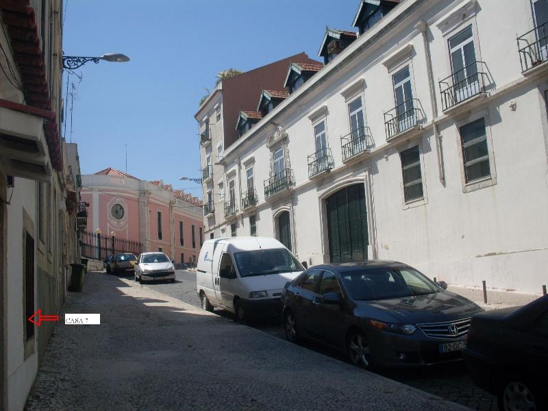 Our Street--arrow to our door - Typical House,Old Lisbon Center,Great Tagus  View - Lisbon - rentals