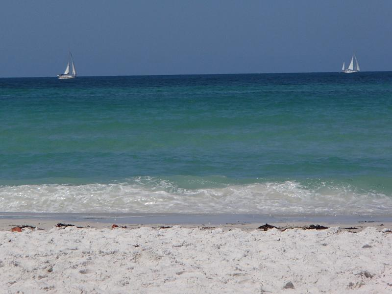 Beautiful soft white sand and clear warm water - Steps to  Beach, Gulf View, Footprints in the Sand - Bradenton Beach - rentals