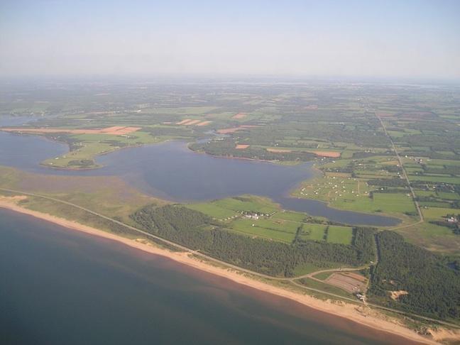 Aerial view - Ocean Beach Cottage - Prince Edward Island - rentals