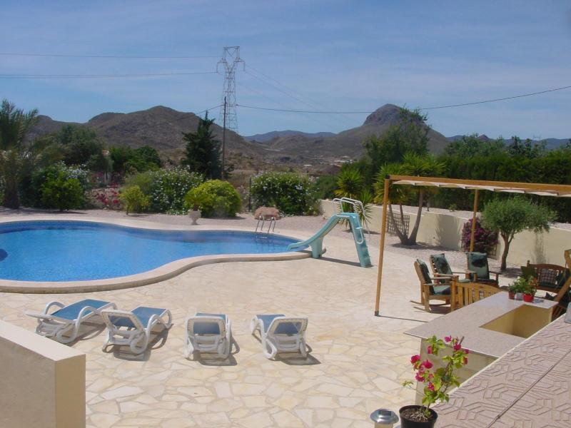 Pool and relaxation area - Casa Buena Vista - Mazarron - rentals
