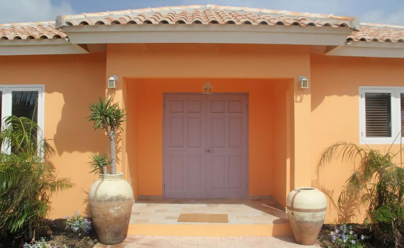 Entrance to apartment 1, apt.1 also has a poolside patio and a private back patio off the bedroom - La Boheme Aruba - Superior Apt. #1 with pool 800 yd to beach Marriott *Flash Sale* - Sierra Nevada - rentals