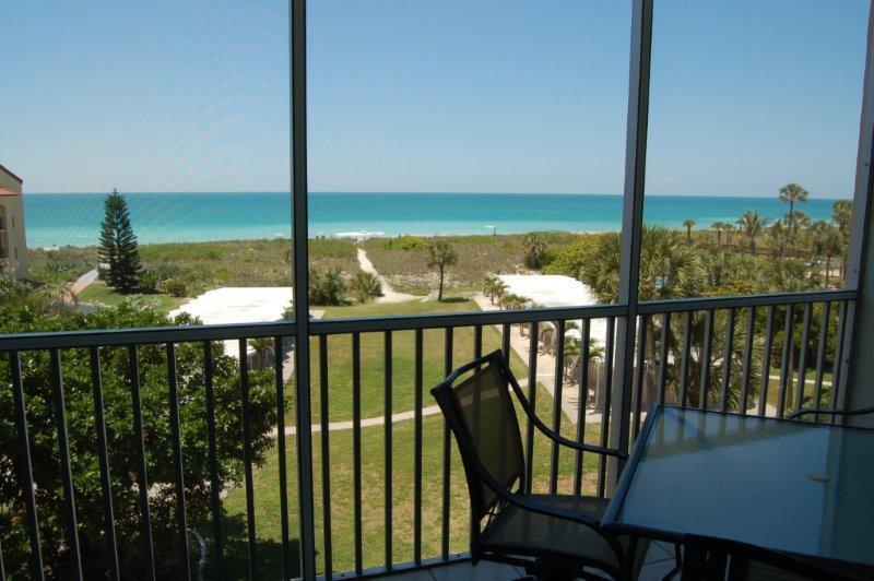 Lanai view - 2/2 on beach,  free WiFi, heated pools. dock - Sarasota - rentals