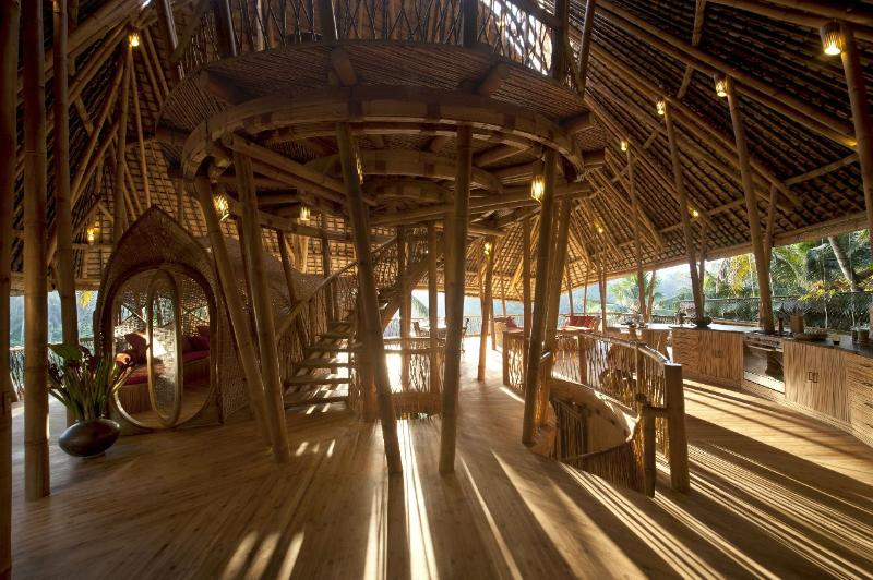 Guests enter Sunrise House on the 3rd floor - Stunning All Bamboo 4 Storey House by River nrUbud - Abiansemal - rentals