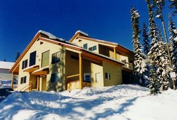 View looking up from the ski trail - The Bellevarde Chalet Unit C at Big White Resort - Big White - rentals