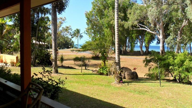 looking to the left from front verandah - Far North Queensland, Australia (beachfront) - Ball Bay - rentals