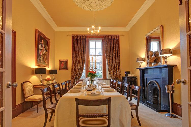 Dining room seats twelve in comfort and style - Large comfortable home, FIFE, SCOTLAND - Letham - rentals