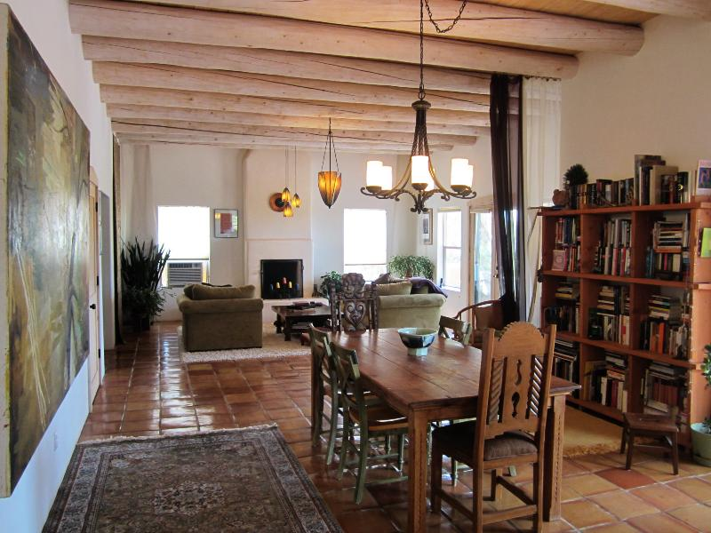 Dining Room & Living Room - Peaceful oasis with wilderness near Santa Fe - Santa Fe - rentals