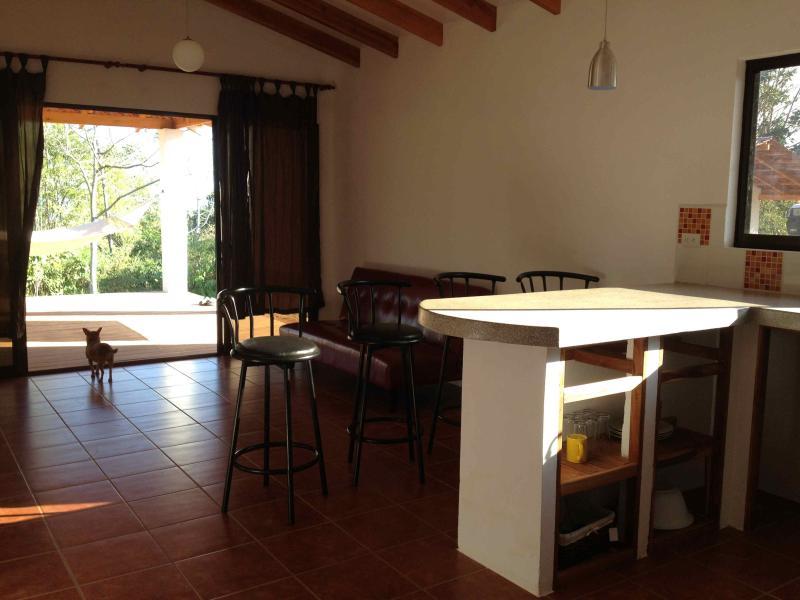 kitchen/ livingroom - Montezuma House, 2 BR, 2 Bath, A/C - Montezuma - rentals