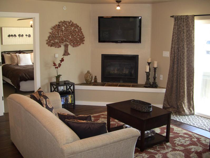 Fantastic living space complete with mounted plasma TV and a gas fireplace. - Most Amennities & Best Price:WiFi, Hot Tub, Fire.. - Big Sky - rentals