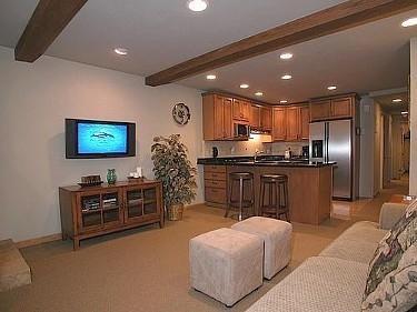 Living area - Beautiful  2 bedroom, 2 bath Condo in the heart of Aspen - Aspen - rentals