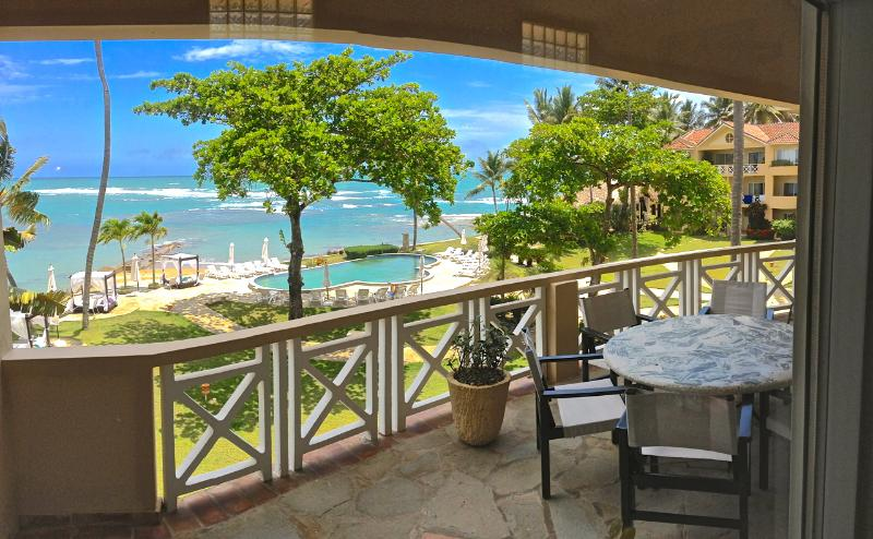 Beautiful balcony and view from your penthouse - Velero Beachfront 3 Bedroom Penthouse - Cabarete - rentals