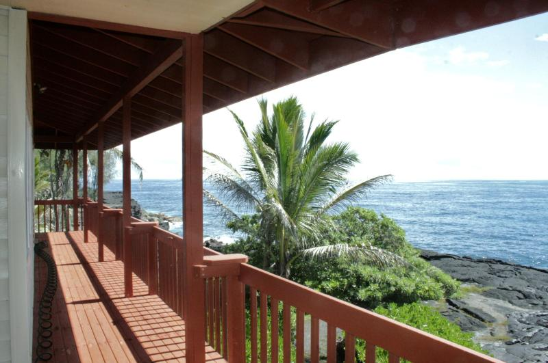 View from upstairs unit - Sixty feet from the Pacific! - Pahoa - rentals