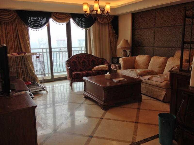 Living Room 2 - 3 BDs Apt at prestigious Swan Bay Beijing - Beijing - rentals