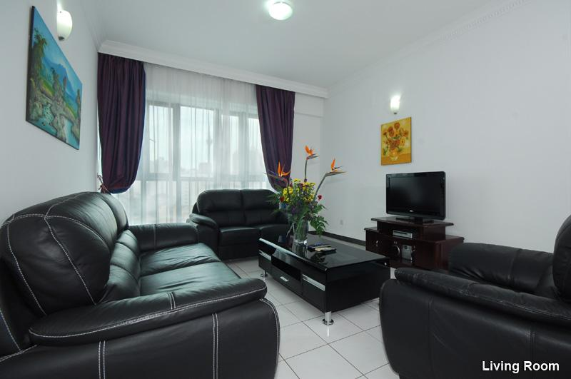 Living Room Sample, Leather Sofas, LCD TV, Free WIFI, etc. - Luxury 4 Bedroom Apartment / Daily Rent - Kuala Lumpur - rentals
