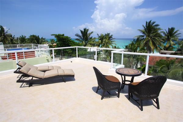 Your own ocean view roof deck - Beachside Playacar Vacation Home - Vista del Mar - Playa del Carmen - rentals