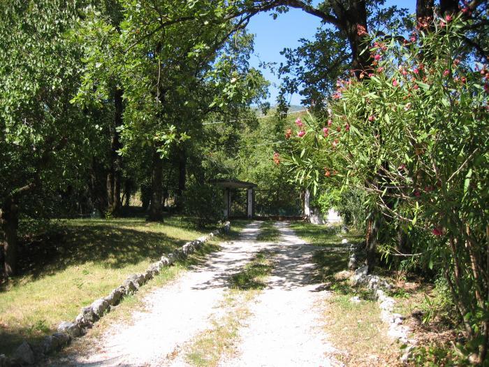 entrata giardino - affitto settimanalmente appartamento per amanti natura, mountin bike ecc. - Dardago - rentals