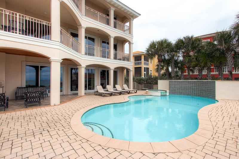 Fronts The gulf of Mexico in the gated community of Destiny East. - Over The Top: 5 Bdrm, Gulf View, Private Pool - Destin - rentals