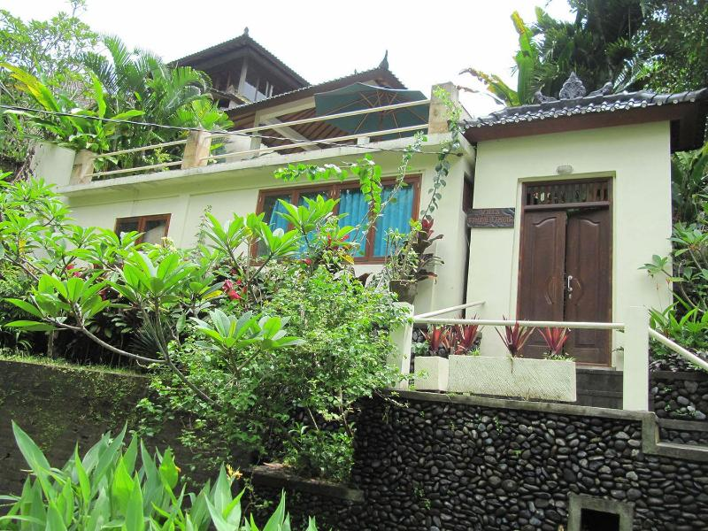 View up to the villa from lane below - Villa Cenik-  private, secluded, magnificent views - Ubud - rentals