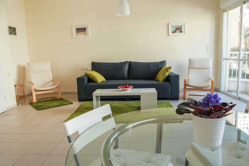Central 2br with balcony& parking beach apartment - Image 1 - Tel Aviv - rentals