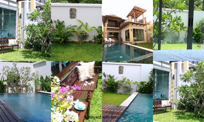 BACKYARD WITH POOL - 3 Bed Private Pool Villa, Near Beach and Laguna - Si Sunthon - rentals