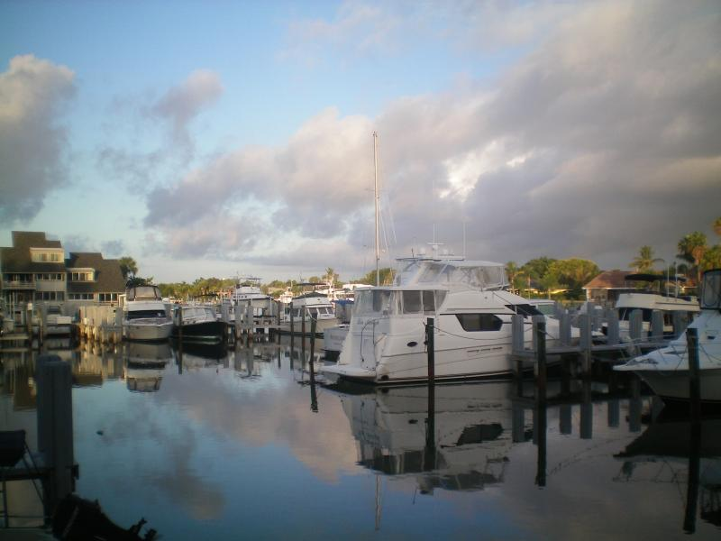 View from back porch - Walk to Beach, Pool  Amazing Harborside Sunsets - Vero Beach - rentals