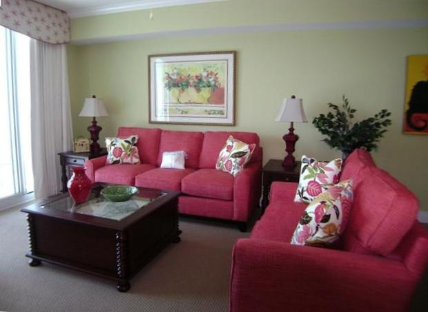 Living Room - Waterscape A630 Sleeps 4-6 Beach Front  Pool View - Fort Walton Beach - rentals