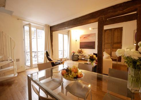 Marais - St. Paul Chic duplex apartment - Image 1 - Paris - rentals