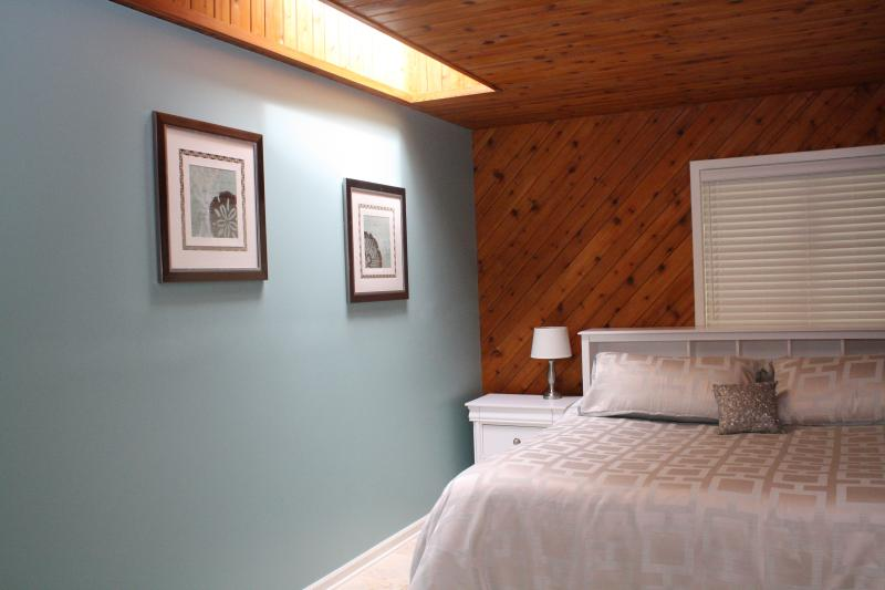 King bed with high quality matress & linens - Bay Town Suite--Hospitality by the bay - Traverse City - rentals