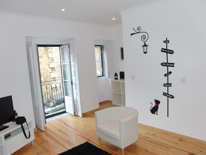 Sala de Estar - Apartamento Romântico na Graça/Castelo - Lisbon - rentals