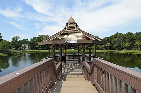 Gazebo at Pool - Renovated Villa, Lagoon & Golf Course Views, Onsite Pool/Tennis - Hilton Head - rentals